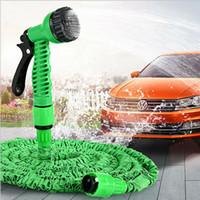 Wholesale expandable hose for garden resale online - 100FT Expandable Magic Flexible Garden Water Hose For Car Hose Pipe Plastic Hoses garden set to Watering with Spray Gun LJJA3725