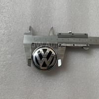 ingrosso loghi dell'auto per il volante-Distintivo della copertura dell'airbag di styling dell'automobile di 1 pezzo per il logo della copertura del airbag dell'emblema del volante di Volkswagen VW Trasporto libero