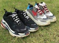 кроссовки с низким вырезом оптовых-Горячая распродажа 2019 Limited дешевые мульти мода Повседневная обувь для Triple s Мужчины Женщины Low Cut Повседневная обувь кроссовки унисекс Zapatillas тренеры