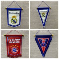 Wholesale Fans Flag Football Flag Gift For captain game Manchester Real Madrid Bayern PARIS messi M SALAH Football Fan Soccer exchange Hang flags