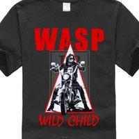 ingrosso nero in metallo contorto-VESPA. Selvaggio Child'85 Heavy Metal Wasp Twisted Sister New Black maglietta