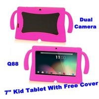 Wholesale free tablets for kids for sale - Group buy 7 inch Android Kids Tablet GB WIFI Allwinner A33 Kids Tablet Free Cover Best Gift For Children