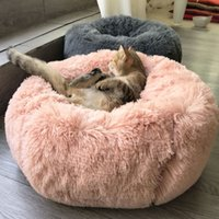 Wholesale cats bedding resale online - Warm Cat Bed House Hamburger Bed Disassemblability Windproof Pet Puppy Nest Shell Hiding Burger Bun for Winter Dog and Cat Mats