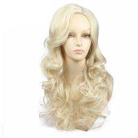 uzun peruk sarışın 613 toptan satış-Sıcak 22 inç Uzun Dalgalı Sarışın Kadınlar için 613 Renk Sentetik Peruk Moda Saç Stili