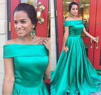 Wholesale turquoise black dress for sale - Group buy Luxury Turquoise Party Dresses Sweep Train Off The Shoulder Formal Party Prom Gowns Evening Gowns With Pockets Vestidos De Soiree