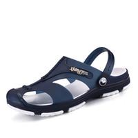 mes casual shoes venda por atacado-Sandálias Mes 2019 Tênis de Verão Para Homens Novos Sandálias Baotou Moda Casual Desgaste Dos Homens Sapatos de Praia Não-slip Hole Shoes 305