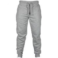 Wholesale men s clothes for autumn resale online - Autumn Jogger Pants Men Fitness Bodybuilding Pants For Runners Clothing Autumn Sweat Black Gray Trousers Pants