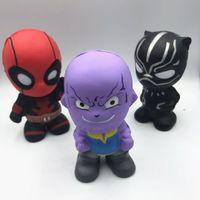 film kahramanları toptan satış-Squishy Avengers Squishy Oyuncaklar Yavaş Yükselen Marvel Film Squishy Oyuncak Süper kahraman Thanos Örümcek-Adam Squishies an-stres Oyuncaklar