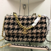 Wholesale girl beds resale online - Classic Pattern Women Shoulder Bags High Street Plaid Female Chain Bags Travelling Personality Trendy Girls Crossbody Bags