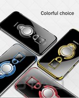 capa fina lite venda por atacado-Ultrafino transparente phone case para huawei mate 20 10 pro p20 p10 lite p30 car magnética casos para honor 9 anel de dedo titular cobrir