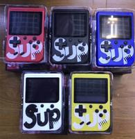 пап игровая консоль оптовых-G4 Sup Ретро FC 8 бит Мини Портативные портативные игровые плееры Игровая приставка 3 ЖК-экран Текстура поверхности Поддержка TV-Out Лучший подарок PK PAP PXP3