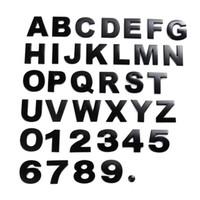 ingrosso emblemi del motociclo cromato-3D emblema del metallo Adesivi auto Lettera Numero Digital Chrome fai da te del distintivo di marchio dell'automobile decorazioni H2.5cm Automobile Moto Adesivi