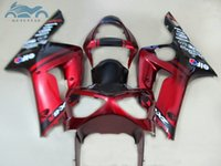 Wholesale aftermarket kawasaki ninja fairings resale online - High quality fairings set for kawasaki Ninja ZX6R aftermarket ZX R black red fairing kit HF89