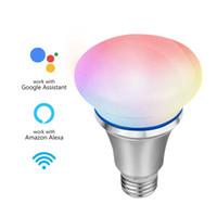 wifi kontrollbirne großhandel-Smart WiFi LED Glühbirne Smartphone App gesteuert Dimmbar 6W E27 7 Farben RGB Energiesparlampe Funktioniert mit Alexa Voice Control