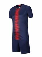 Wholesale sports articles for sale - soccer jersey kit football tshirt shorts pants uniform set men s sport articles jersey S M L XL Discount Sale