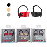 gancho para la oreja universal al por mayor-TWS Ear Hook Deportes Auriculares W2 Colorido Inalámbrico Mini HIFI Bluetooth V5.0 Earbud Auriculares inalámbricos Auriculares Headset para iPhone Android