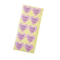 Wholesale paper tags sticker resale online - 1000pcs Vintage quot Thank you quot series romatic Heart design Paper Sticker for Handmade Products