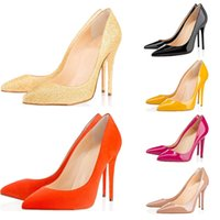 Wholesale stiletto party pumps online - Designer Shoes sneaker So Kate Styles High Heels Shoes Red CM Bottoms black luxury Nude Genuine Leather Point Toe Pumps Rubber size