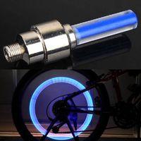 bateria fluorescente venda por atacado-Luz de bicicleta contém bateria, bicicleta de montanha, luz de bicicleta de estrada LED cobertura de válvula de pneu pneu raio falou lâmpada fluorescente LED
