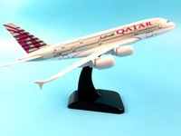 Wholesale old plane models for sale - Group buy 20CM AIR PASSENGER PLANE A380 QATAR METAL ALLOY MODEL PLANE AIRCRAFT MODEL TOY AIRPLANE COLLECTION DESK TOY BIRTHDAY GIFT