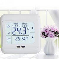 термостат для обогрева пола  оптовых-Brand New Home Thermoregulator Touch Screen Heating Thermostat for Warm Floor Electric Heating System Temperature Controller