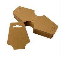 etiquetas blancas en blanco al por mayor-Alta calidad blanco negro papel Kraft DIY tarjetas en blanco collar joyería embalaje papel brazalete pulsera pantalla soporte etiquetas colgantes 5 * 12 cm