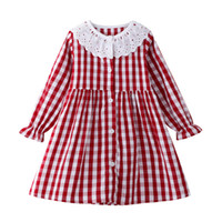 Wholesale watermelon print ribbon resale online - Girl Princess Long Sleeve Cotton Dress Designer Stylish Autumn Spring Winter Kids Dresses with Animal Patterns Years