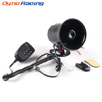 Wholesale auto alarm sirens for sale - Group buy Dynoracing Sound W V Warning Alarm dB Siren Air Horn Megaphone Loudspeaker with Microphone For Car Motorcycle Auto Truck Boat