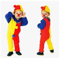 bebek cadılar bayramı kostümleri toptan satış-Çocuk Giyim Bebek Giysileri Erkek Bebek Giysileri Erkek Giysileri Yeni Harlequin Kostüm Çocuk Palyaço Cadılar Bayramı Fantezi Elbise Cosplay Sıcak Moda Çocuk