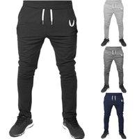 erkekler için joggers pantolon toptan satış-Erkek Spor Pantolon Uzun Pantolon Eşofman Spor Egzersiz Joggers Erkek Eşofman Altı