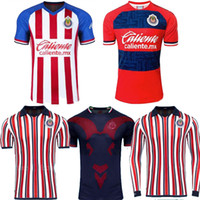 Wholesale mexico jersey red for sale - Group buy Size S XL MEXICO Club Chivas de Guadalajara home rd away club world long sleeve A PULIDO LOPEZ Football Shirts Soccer Jerseys