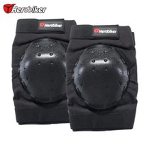 fahrrad-knieschutz großhandel-HEROBIKER Motorrad Knieschützer Fahrrad Radfahren Bike Racing Tactical Skate Knieschützer Guard Black Protection Pads