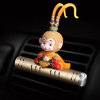 Wholesale monkey decoration dolls for sale - Group buy Car Air Freshener Supplement Lemon Perfume Auto Shake Head Monkey Doll Scent Air Condition Outlet Diffuser Automobile Decoration