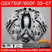 ingrosso corredo kit katana nero-Body kit Per SUZUKI KATANA Scorpion nero GSXF600 GSXF750 03 04 05 06 07 3HC.7 GSX750F GSX600F GSXF 750 600 2003 2004 2005 2006 2007 Carenatura