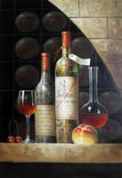 arte de la pared lienzo vino panel al por mayor-Vino Decoración pintado a mano de la impresión de HD pintura al óleo del arte de la pared en lona lona Grandes img 191125