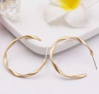 ingrosso gioielli dell'ago dell'oro-S925 argento c c orecchio anello argento pin dumb everbright oro retrò geometrici twist gioielli orecchini opachi