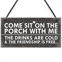 ingrosso giardino segno-Sedersi sul portico Shabby Chic appeso a parete Signs Garden Shed Plaques Alcohol Friend Gifts