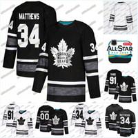 jerseys de jogo juvenil venda por atacado-Juventude 2019 Todas As Estrelas Jogo Jersey Mitch Marner JohnTavares Zach Hyman Frederik Andersen Nazem Kadri Toronto Maple Leafs Hockey Jerseys