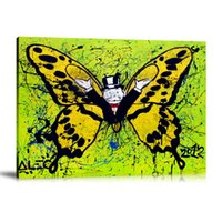 ingrosso la farfalla ha incorniciato la pittura a olio-(Unframed / Framed) Alec Monopoli farfalla, 1 Pezzi Canvas Prints arte della parete della pittura a olio Home Decor 24x32.