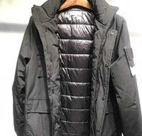 klasik tasarımcı kıyafetleri toptan satış-erkekler ceket kış ceket 19fw marka tasarımcı ceketler klasik apolet erkek ceket açık rahat moda pamuk giysiler rüzgar geçirmez dış mekan sıcak