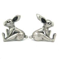 plugues de coelho venda por atacado-Nova Chegada Falso Earrings Earring Realista Coelho Ratbbit Animal Em Forma de Plugue Falso Brincos para As Mulheres ED094
