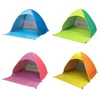 barraca instantânea ao ar livre venda por atacado-Automatic Barraca Camping Praia Verão Jogue Tenda 2 Pessoas instantâneo Up Abrir Anti UV Toldo tendas ao ar livre Sunshelter