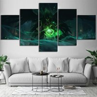 Wholesale league legends paintings for sale - Group buy Canvas Painting Prints Home Decor League Of Legends Summoner S Rift Noxus Video Game Wall Artwork Modular Pictures Poster