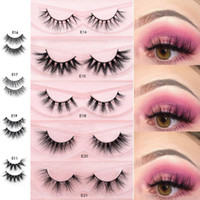 2019 New styles 3D mink eyelashes E series cruety free mink lashes full volume real mink eyelashes for make up