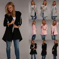 пальто с завязками оптовых-С длинным рукавом карман кардиган верхняя одежда Женщина тренч теплые зимние пальто мода шнурок повседневная Куртки пальто TTA139