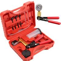 probador de mano al por mayor-Hot 2 in 1 Líquido de freno Purga de mano Coche Vacío Pistola Pistola Tester Kit Auto Kit de cambio de aceite Pistola Bomba Kits de herramientas de alta calidad