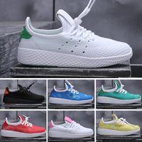 Wholesale shoes men free air online - 2018 New arrive Pharrell Williams x Stan Smith Tennis HU Primeknit men women kids Shoes breathable Shoes EUR