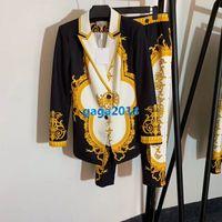 ingrosso oro delle gambe delle ragazze-pantaloni da donna di fascia alta da donna giacca blazer giacca con bottoni a lancia bottone di ibisco dorato top a manica lunga legging pantaloni dritti abito design di moda
