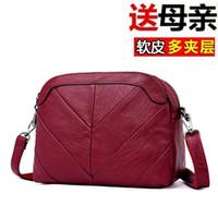 Wholesale buy shoulder bags resale online - Belle2019 Middle Rui Man Age Mom Woman Multi storey Soft Leather Small Bag Buy Menu Package Quinquagenarian Single Shoulder