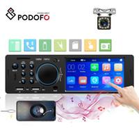 радио mp3 auto usb dvd оптовых-Podofo 1 Din Car Radio FM Autoradio Bluetooth Multimedia MP5 Player 4.1